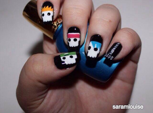 Hungry 5SOS nail art