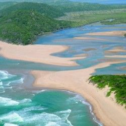Isimangaliso wertland Park Sodwana. Bay in KZN, South Africa. Beautiful beach, yes, but also remarkable living Eden for rhinos, elephants, leopards, sharkes and whales.