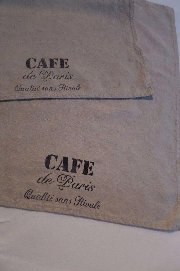 Vintage Handtücher - 2 Vintage Küchenhandtücher - ein Designerstück von Vintage-Linen-and-Wool bei DaWanda