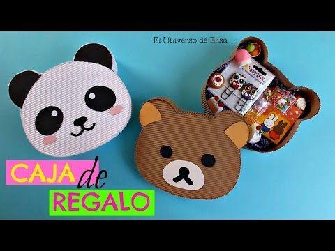 Kawaii Diy, Caja de Regalo Osito Panda/Osito Rilakkuma, Kawaii Gift Box, Caja Cartón Corrugado - YouTube