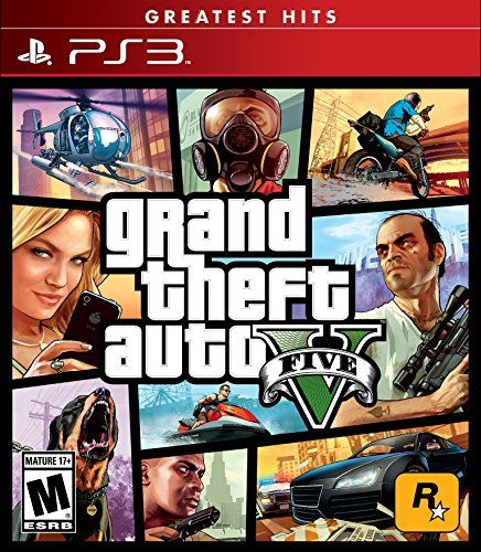 Grand Theft Auto V – PlayStation 3 The biggest, most dynamic and most diverse open world ever created and now packed with layers of new detail.Grand Theft Auto V blends storytelling and gameplay in new ways as players repeatedly jump in and out of the lives of the game's three lead characters, playing all sides of the game's interwoven story.Grand Theft Auto V also comes with Grand Theft Auto Online, the dynamic and ever-evolving Grand Theft Auto universe for multiple players.…  R..