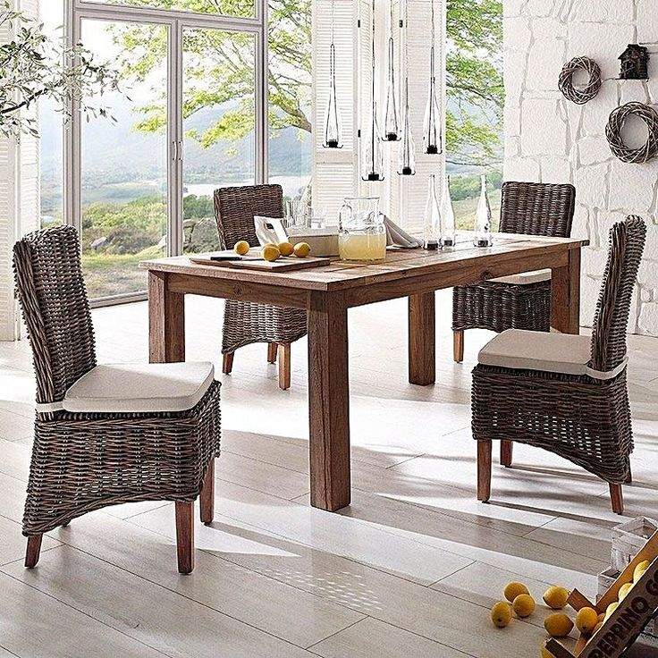 Channel Coastal Relaxation Around Your Dining Table With The Organic Looks  Of The Greenface Kubu Outdoor
