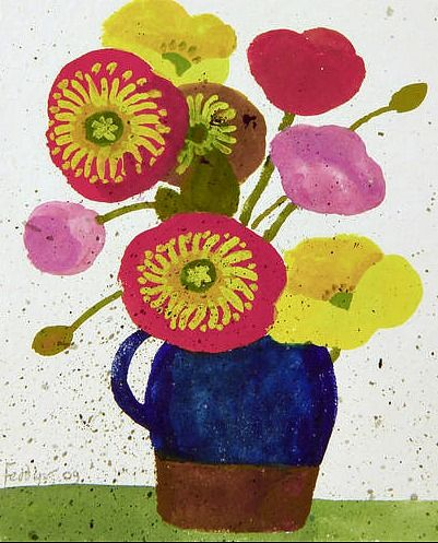 Mary Fedden Flowers in a Jug 2009