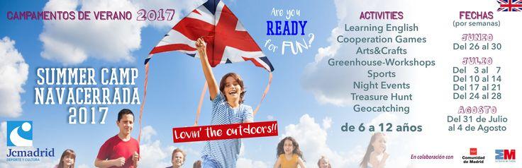 Refuerza tu inglés en el Campamento de Inmersión Lingüística en Navacerrada 2017. Are You Ready For Fun? #campamento #ingles #diversionverano #SummerCamp