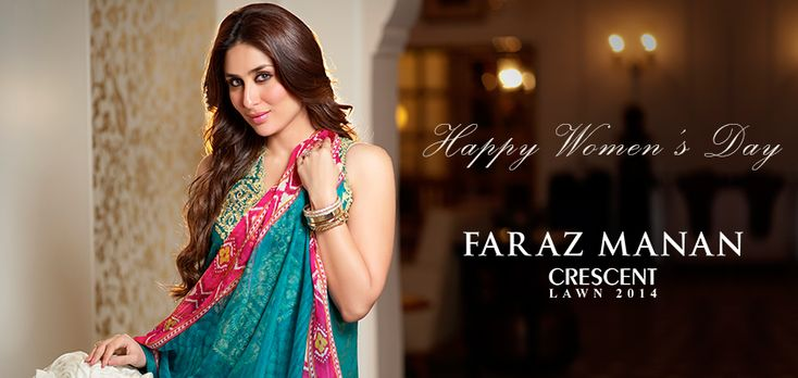 Crescent Lawn 2014 by Faraz Manan featuring Kareen Kapoor post image