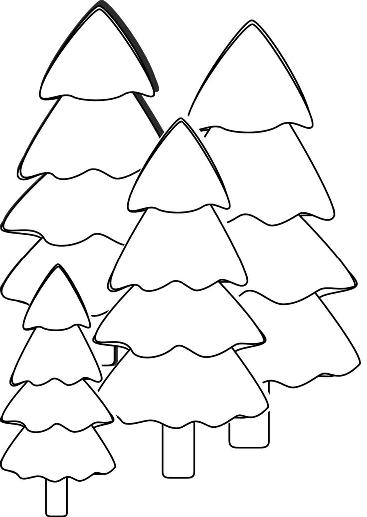 177 best Free Christmas Printables images on Pinterest Coloring - free christmas tree templates