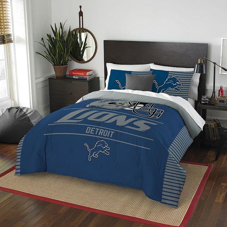 Detroit Lions Draft Full/Queen Comforter Set by Northwest, Multicolor