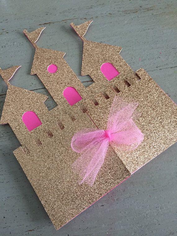 FREE SHIPPING Princess Castle invitation Custom by FalcoClan