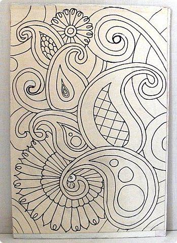 Картина панно рисунок Мастер-класс Аппликация Аппликация из скрученных жгутиков Пейсли Пейп-арт Мастер-класс Пуговицы Салфетки Семена фото 2