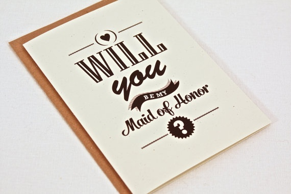 how to ask will you be my maid of honor