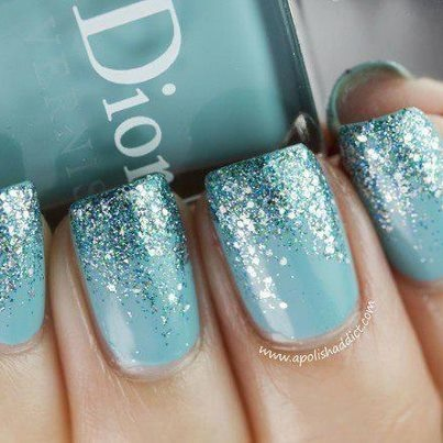 Love the sparkles. Reminds me of an ice princess (: