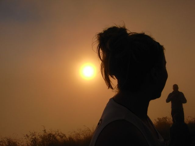 Special sunrise moment at Mt Batur Bali. http://www.sharingbali.com/retreats/