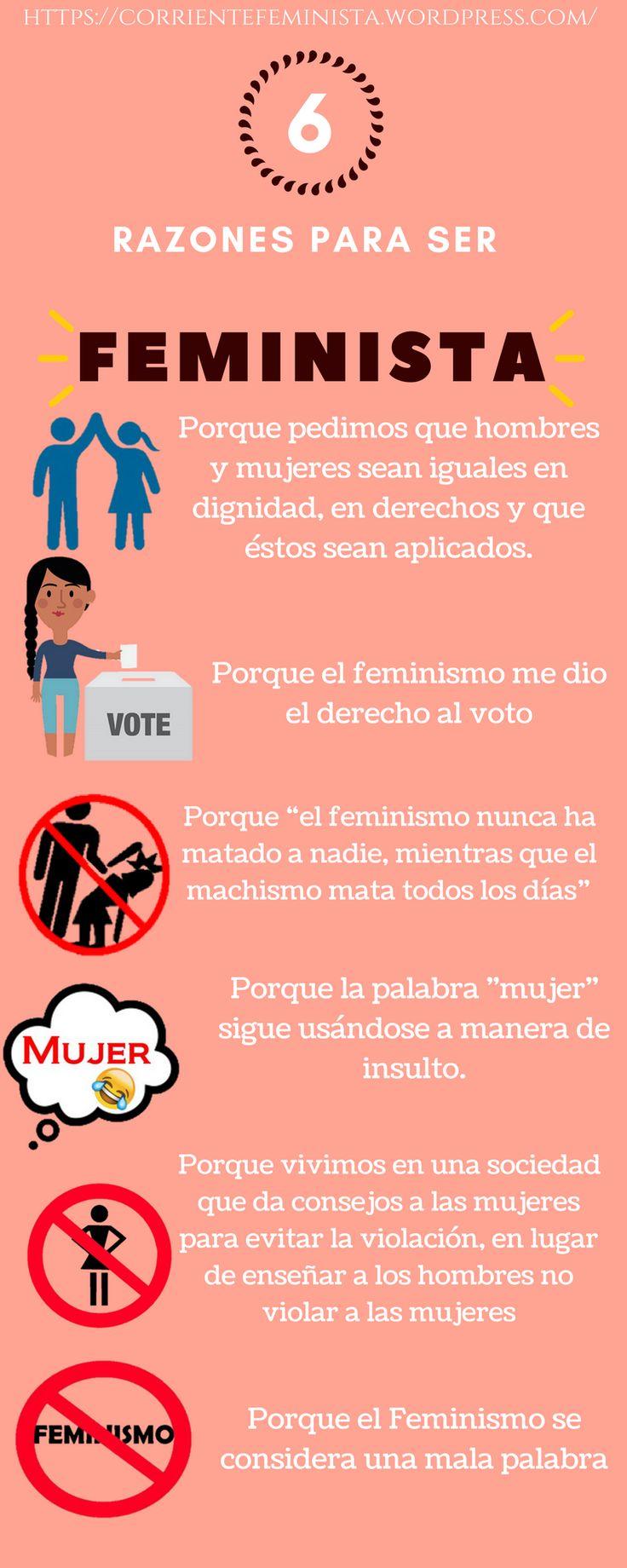 Razones para ser Feministas hay muchas, aquí les dejo 6... #Feminismo.
