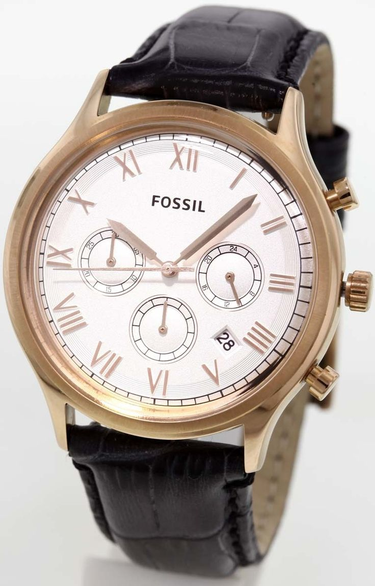 17 best images about fossil watches boyfriend watch fossil men s fs4744 ansel black leather watch < 78 00 >