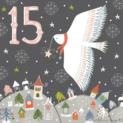 Flora Waycott Christmas Advent 2014 DAY 15 - Flying through a starry sky xx