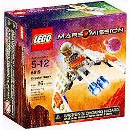 Lego Mars Mission Mini Figure Set #5619 Crystal Hawk by LEGO. $39.99. Includes astronaut minifigure!. 26 pieces. Ages 5+. The Crystal Hawk may be small, but its built for speed and firepower! Battle the aliens wherever they strike with this fast-flying air fighter. * Includes astronaut minifigure!