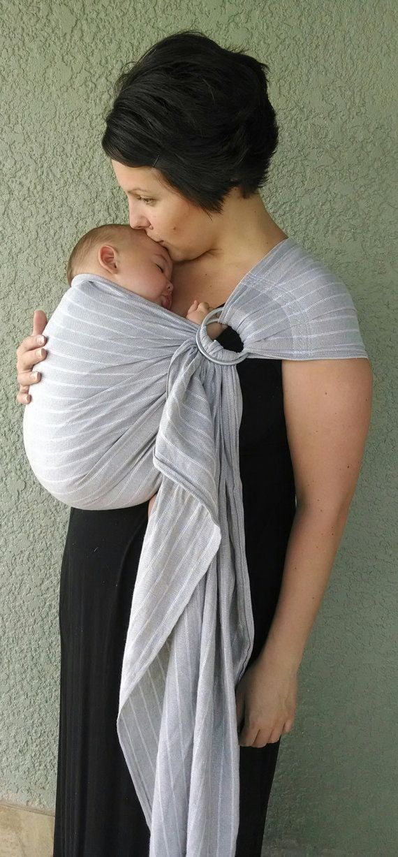 Linen Blend Ring Sling Baby Carrier by CuteAwaking on Etsy, $45.00 // so pretty, i wonder if this would be easy to make....