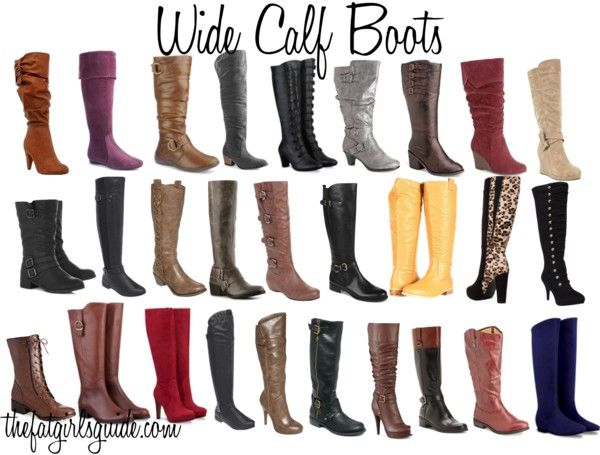 """OMG, this was MADE FOR ME!!!!  Wide Calf Boots... Thanks to my father, I'm forced to buy """"larger than average"""" sized boots =)"""