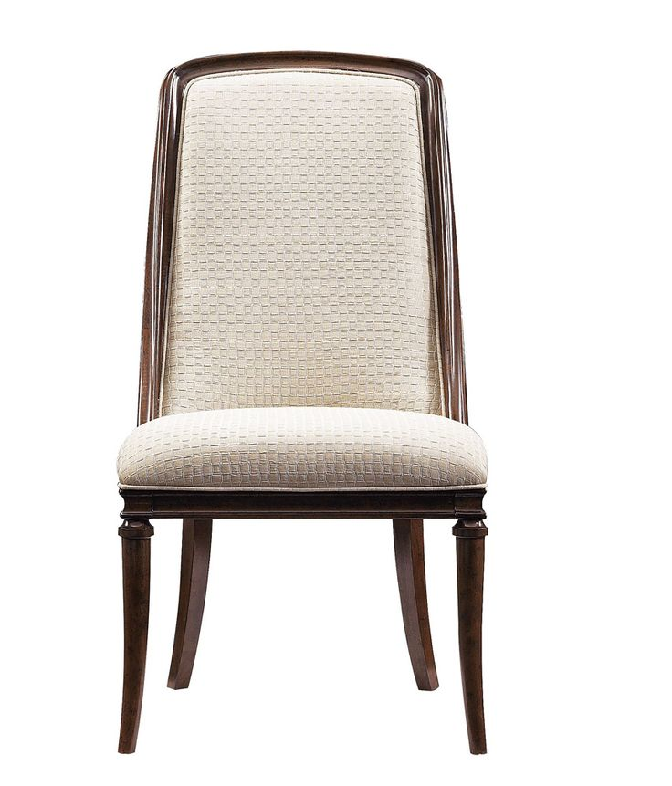 Stanley Furniture Upholstered Host Chair with Exposed Wood Frame | Furnitureland South
