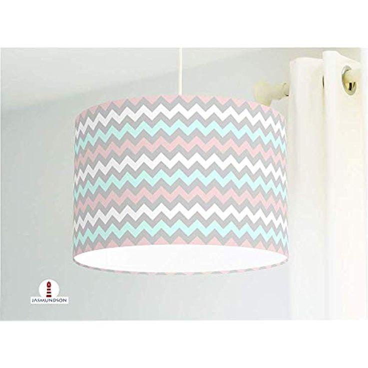 Lampe für Kinderzimmer mit Zickzack Muster aus Ba…