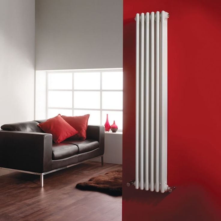 Klassiek Design Kolom Radiator 1500mm x 291mm - 1085 Watt - Wit - Image 1