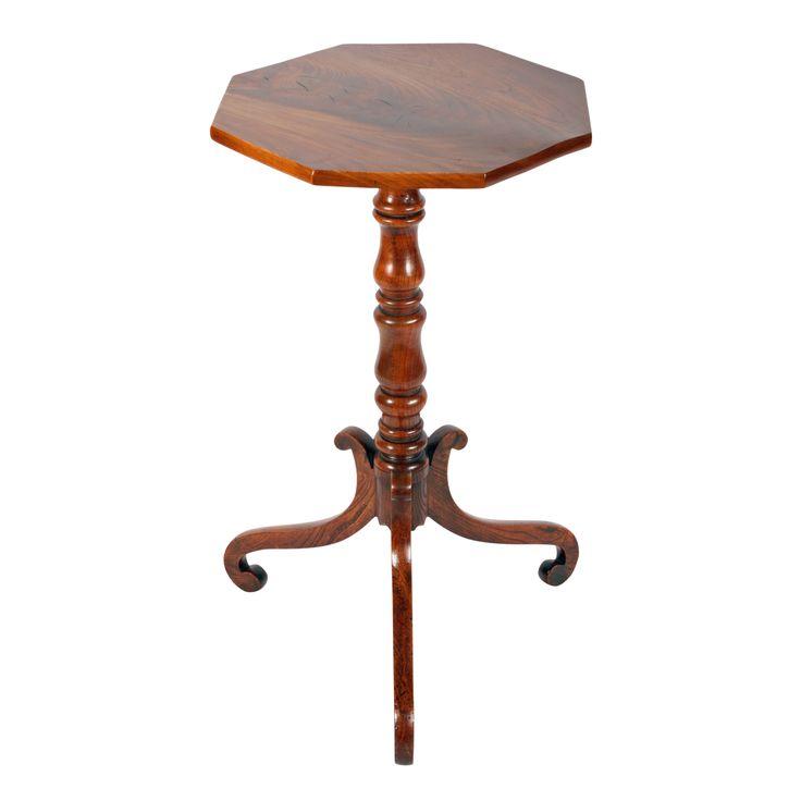Georgian Elm Wood Lamp Table