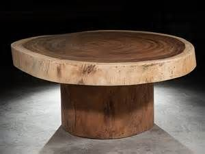 Coffee Table Round - Suar Trunk - Natural 1,20m x 52cm x 12cm | Decord ...