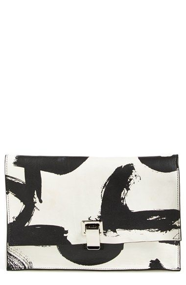 Proenza Schouler 'Small Lunch Bag' Logo Print Clutch available at #Nordstrom
