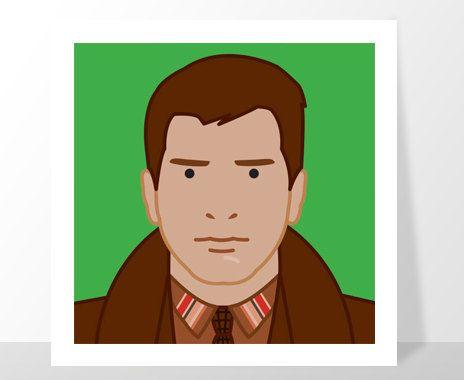 Harrison Ford Rick Deckard Blade Runner portrait by Kinographics