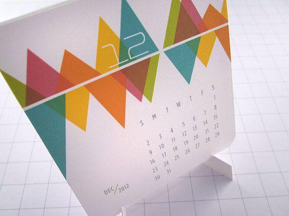Be... Colorful - Modern Mini Calendar - 2012