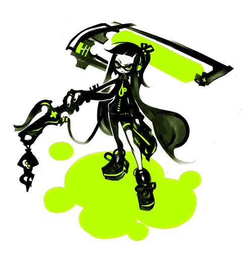 Emo/Goth Inkling Girl. Very Cool