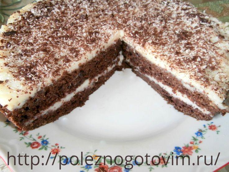 Быстрый торт на кефире «Черный принц»