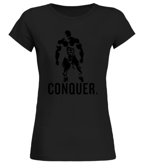 MR-OLYMPIA BODYBUILDING VECTOR-CONQUER D body building com shirt,women body building shirt,