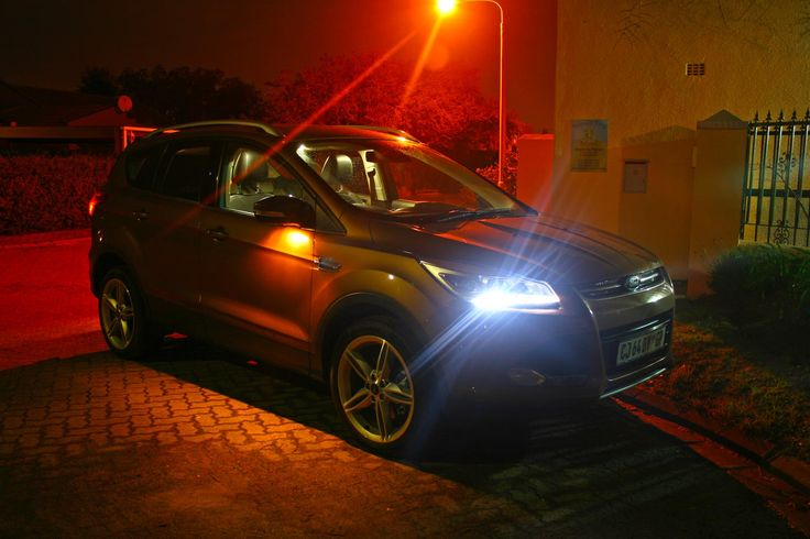 New Ford Kuga showing courtesy night lights. Really lovely car.