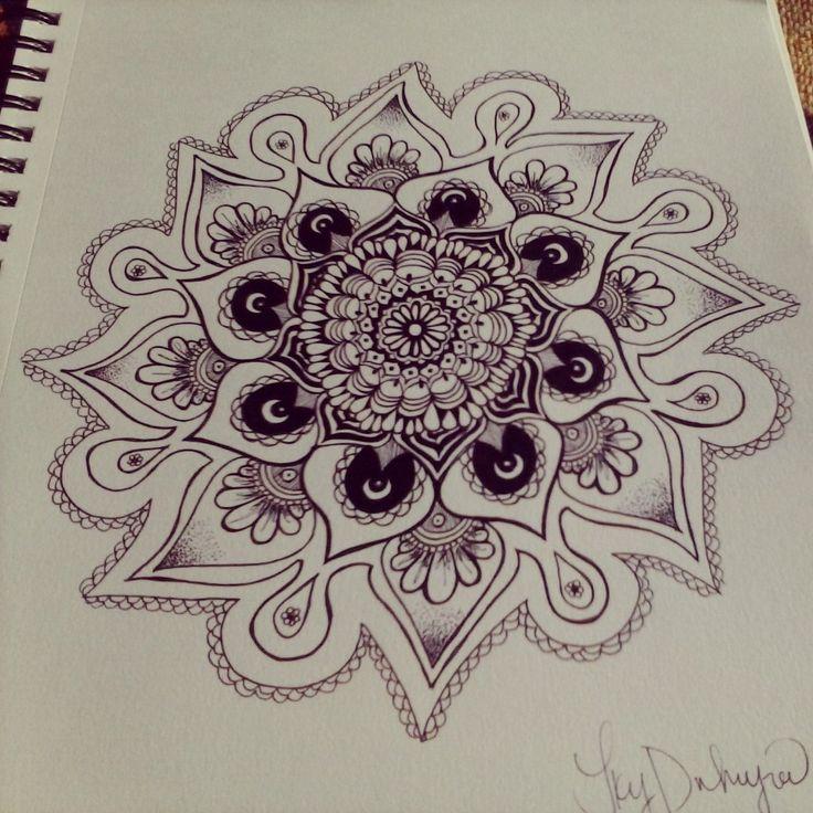 Mandala Designs, drinkingasoline: Another day another mandala
