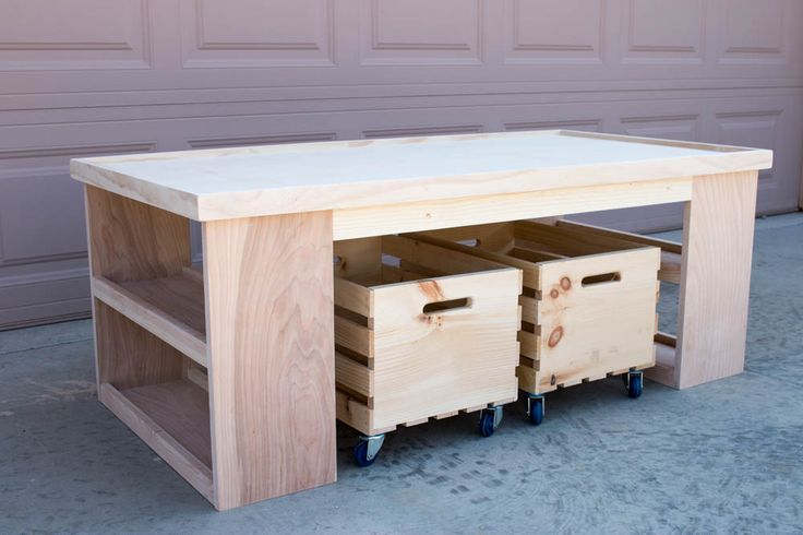 This activity table will keep the kids busy for hours! This weekend project is easy to build using the free printable building plans.