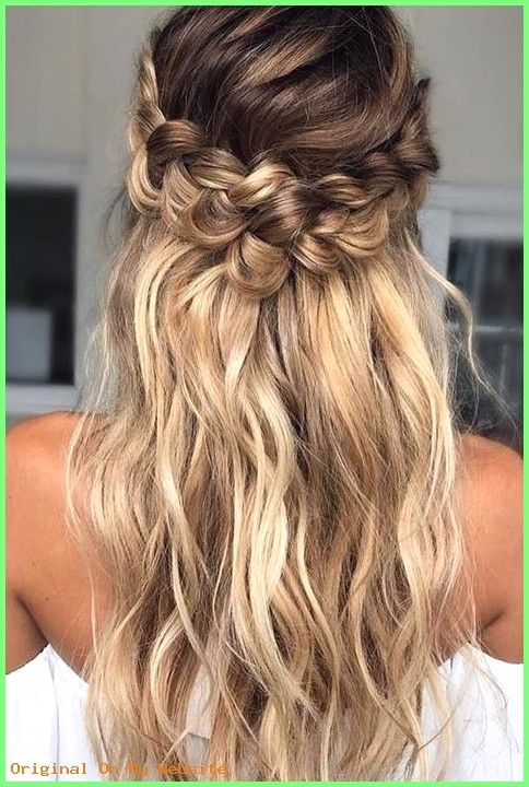 Prom Frisuren 2019 – Awesome Geflochtene Frisur für langes Haar #braidedhairstyles #braid #be…