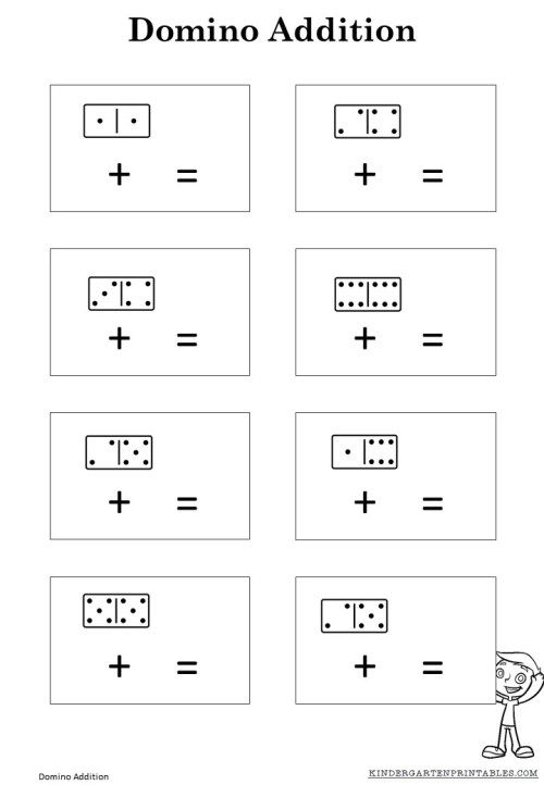 free domino addition sheet perfect for beginning addition lessons kids activities. Black Bedroom Furniture Sets. Home Design Ideas