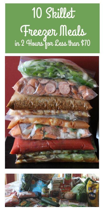 10 Freezer Skillet Meals (in 2 hours for $70!)
