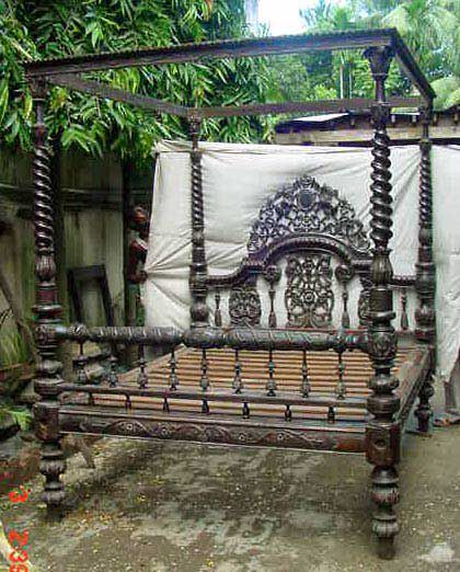 antique four poster bed Victorian style price unknown