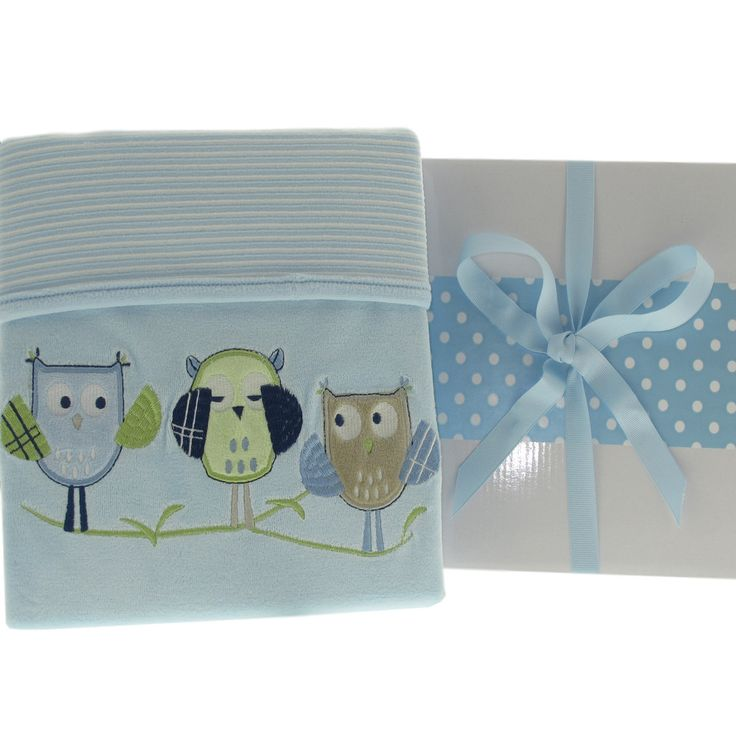 18 best personalised baby gifts images on pinterest personalised boys velour peek a hoot personalised baby blanket negle Images
