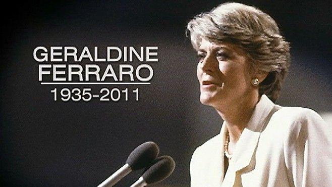 Geraldine Ferraro Dies at 75; First Woman VP Candidate Remembered ...