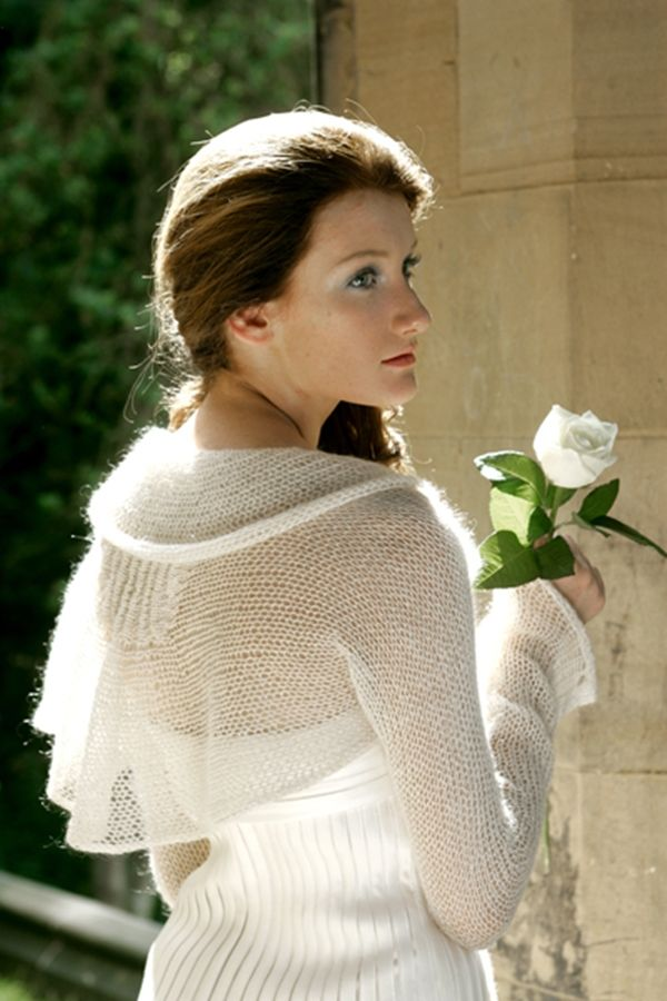 Beautiful Wedding Bolero Knitting Pattern Ornament - Easy Scarf ...