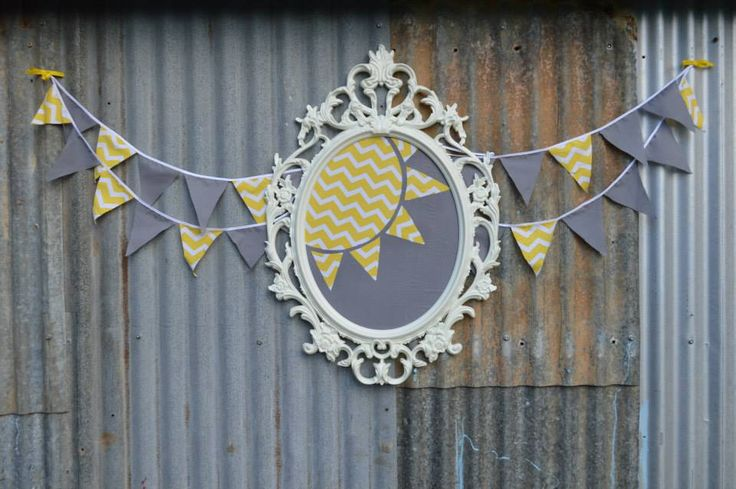 You are my sunshine. Yellow & Grey party backdrop. Ikea UNG frame