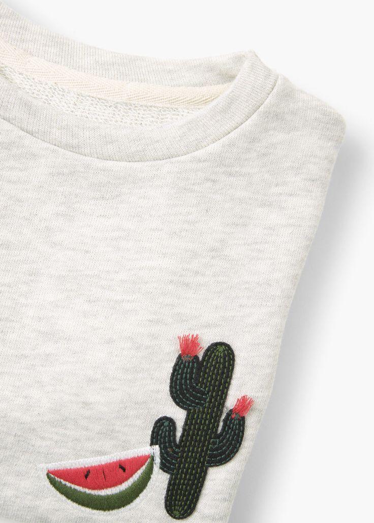 Suéter algodão bordado -  Criança | MANGO Kids Portugal