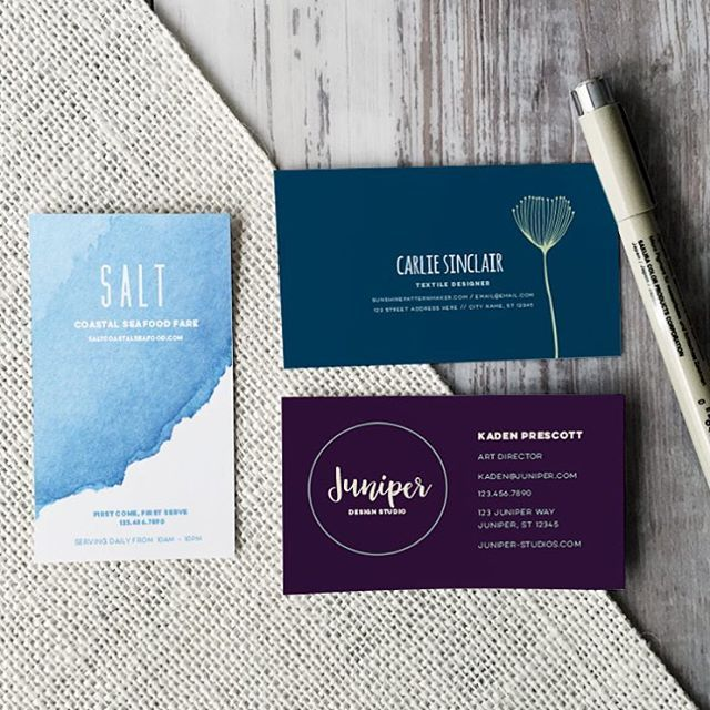 In this week's video tutorial, we create 3 business card design layouts in Illustrator. Front and backs included, all print ready  Link in profile!