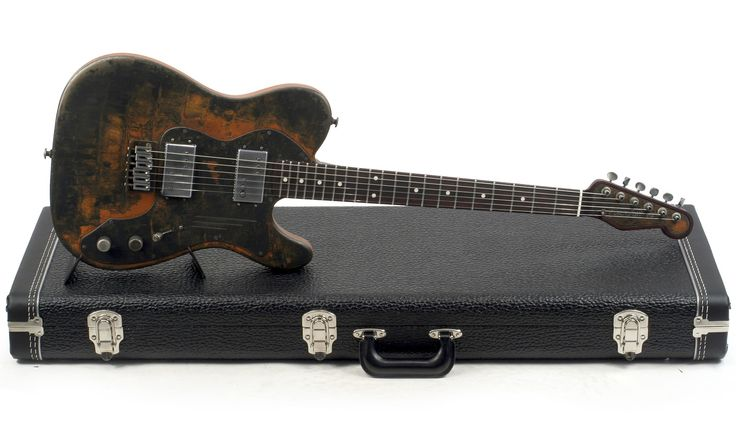 Guitare Electrique Semi-Acoustique JAMES TRUSSART DELUXE STEELCASTER NO F-HOLES #15057, perforated back, micros Wide Range