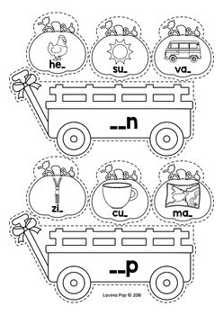 Thanksgiving Literacy Centers for Kindergarten B&W