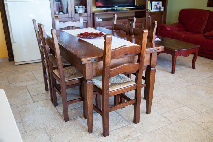 Bramato Cucine | Cucina country in rovere e lavello in marmo
