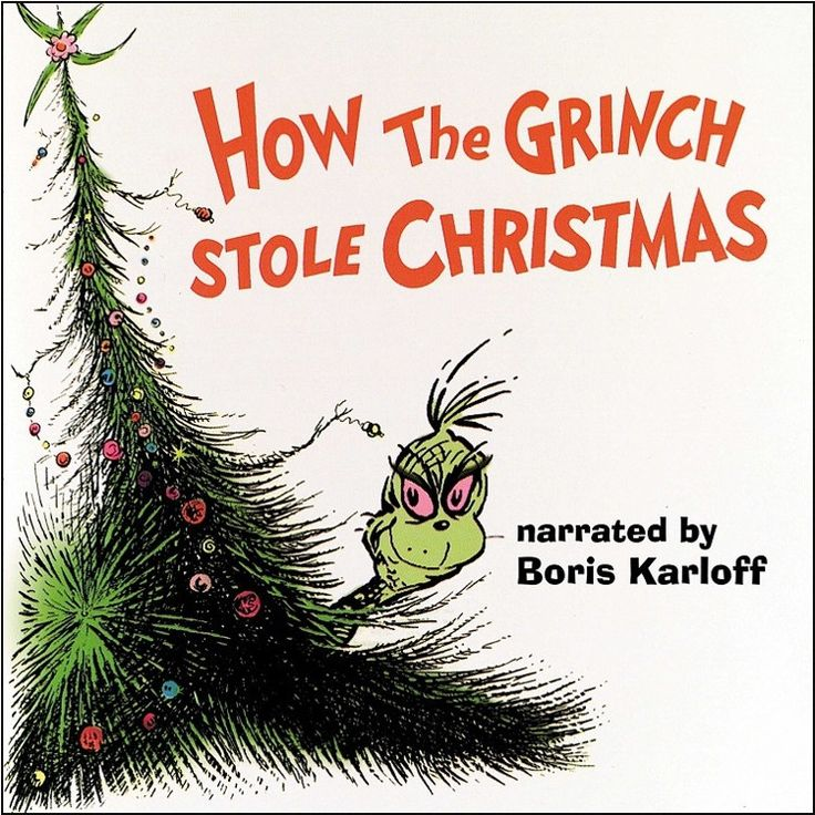 Boris Karloff - How The Grinch Stole Christmas on Grinch Green Colored LP